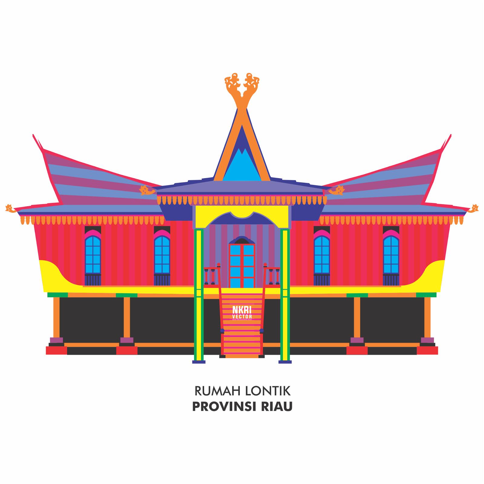 Mewarnai Gambar Rumah Adat Sumatera Barat Mewarnai Gambar