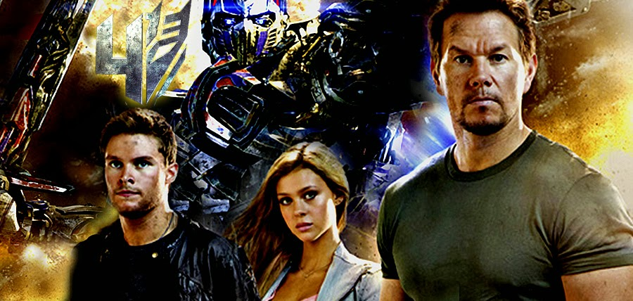 Transformers Age Of Extinction - Jack Reynor, Nicola Peltz, Mark Wahlberg şi Optimus Prime