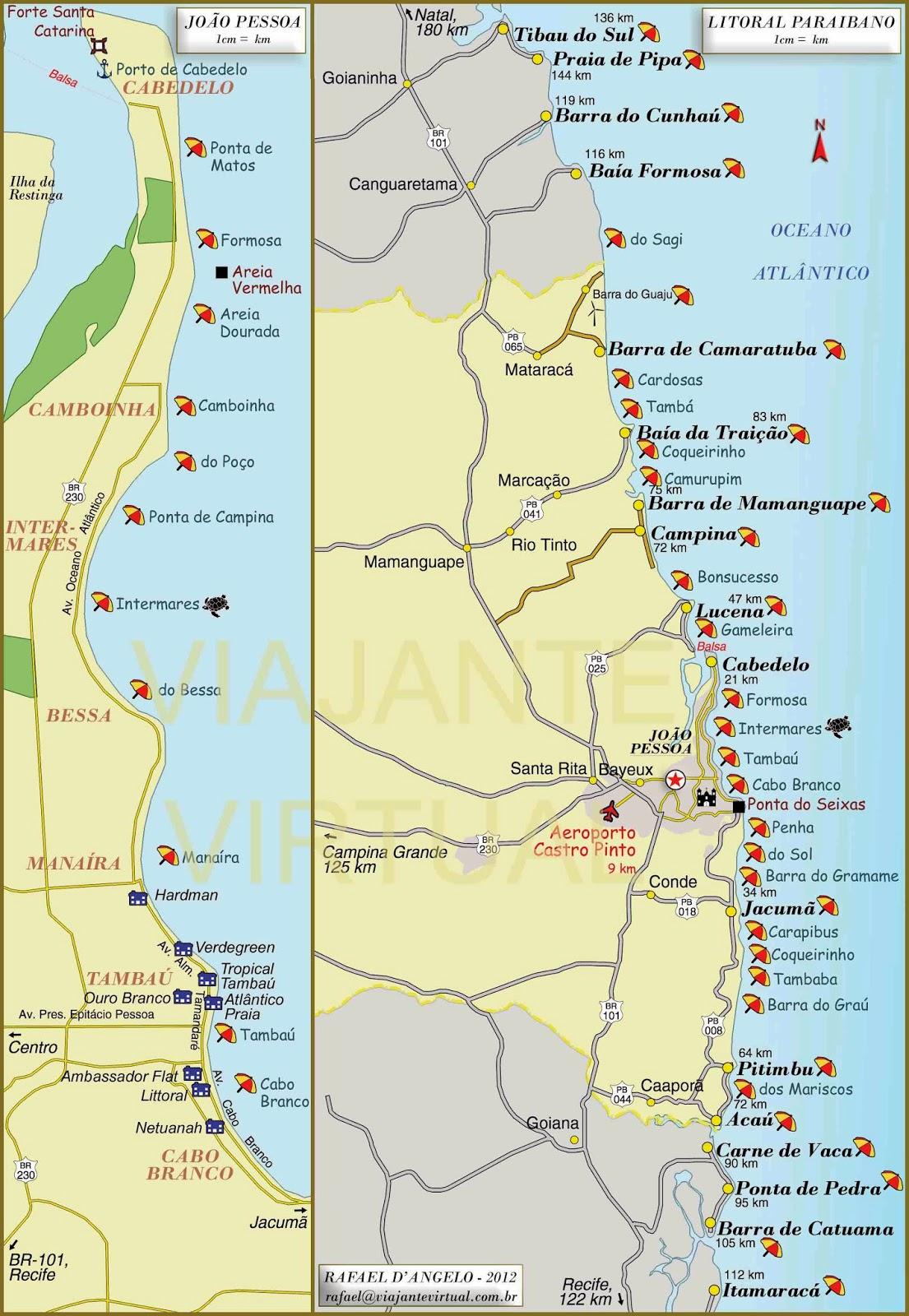 Joao Pessoa Recife Mapa