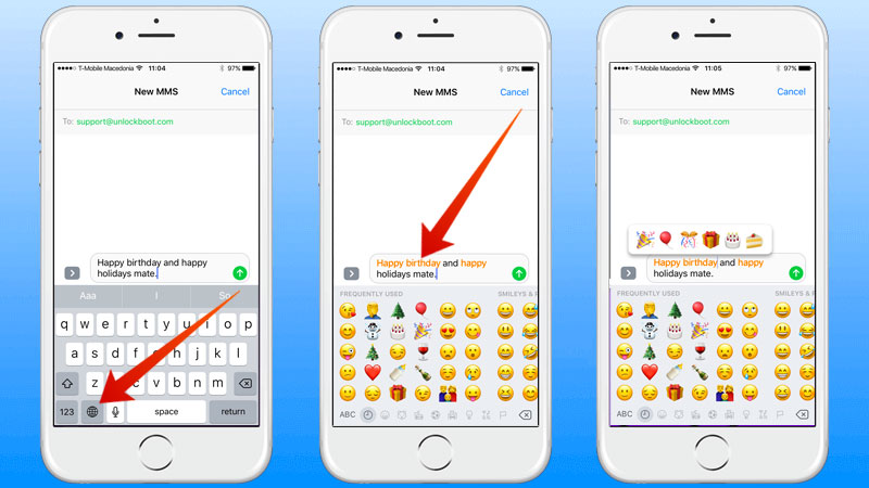 auto emoji replacement on iphone