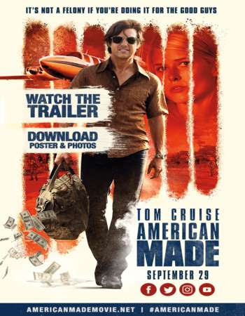 Poster Of Free Download American Made 2017 300MB Full Movie Hindi Dubbed 720P Bluray HD HEVC Small Size Pc Movie Only At worldfree4u.com