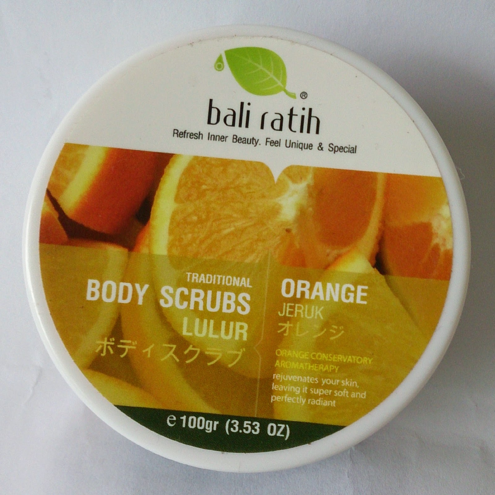 Amalina Skin Food Bali Ratih Body Scrubs Buy 1 Get Alus Green Tea Lulur Srub Natural Acid From Orange Drain The Excess Oil And Sweaty Dirt