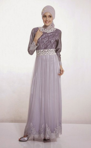 Dress Pesta Model Elegan Untuk Muslim Fashion Terkini