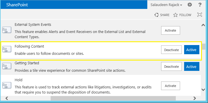 How to Hide Share, Follow and Sync Buttons in Sharepoint 2013