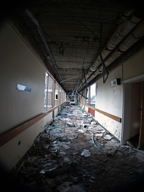 st lukes hospital, st luke's hospital, derelict, abandoned, decay, corridor, walking dead, urbex, huddersfield, demolition, scary, atmosphere, peeling paint, explore, adventure, danger, abandoned, asylum,