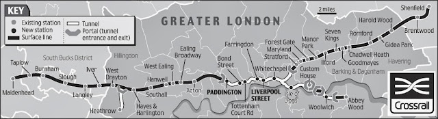 倫敦高鐵路線圖