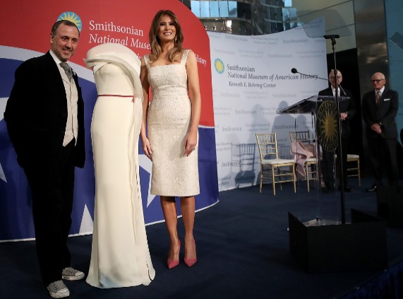 Melania Trump donates her inaugural gown to the Smithsonian's National Museum of American History