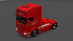 Scania RJL Dark Trans Koper Slovenia Skin