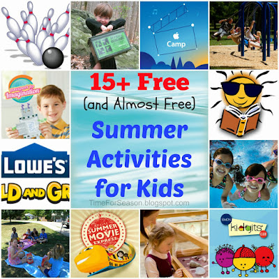 15 Free Summer Activites for Kids