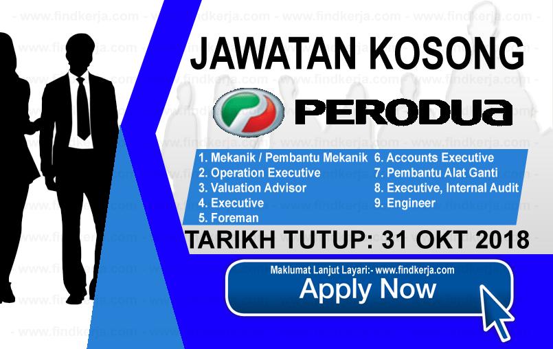 Jawatan Kerja Kosong Terkini PERODUA logo www.ohjob.info www.findkerja.com oktober 2018