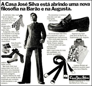 Casa José Silva, moda masculina decada de 70, Moda anos 70; propaganda anos 70; história da década de 70; reclames anos 70; brazil in the 70s; Oswaldo Hernandez