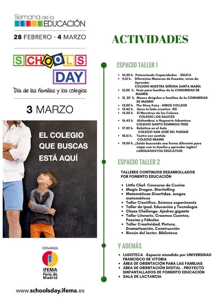Programa de actividades Schools Day