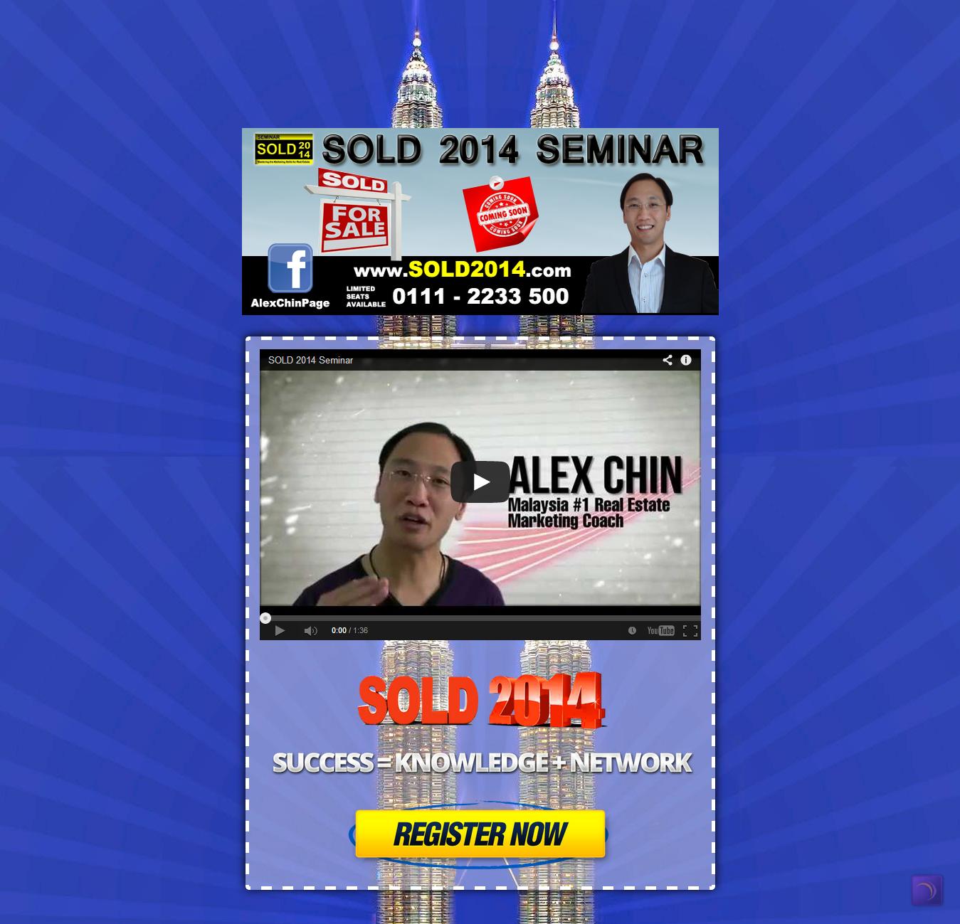 Sold 2014 Landing Page on Blogger