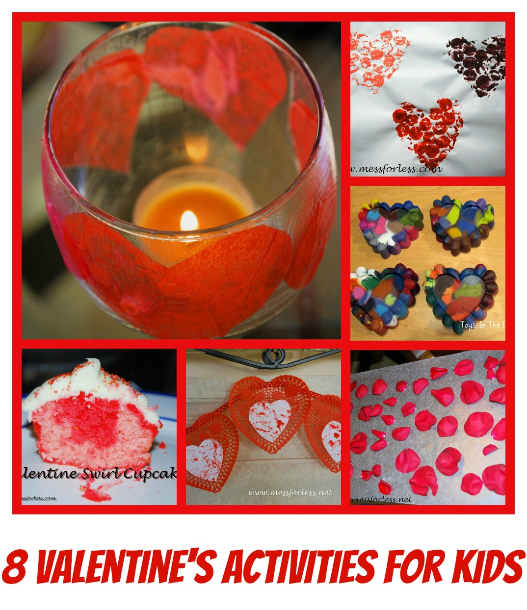 Mess For Less: 8 Kids Valentine - Valentine Crafts: Easy Paper Craft Ideas On A Budget's Day Activities