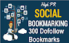 300 Free Dofollow Social Bookmarking Sites