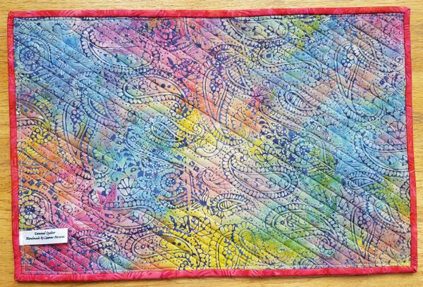personalized denim placemats   DevotedQuilter.blogspot.com