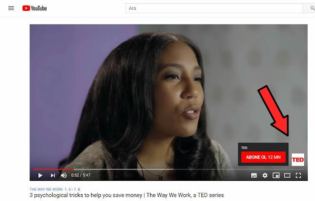 Youtube abone ol butan ve filigran ekleme