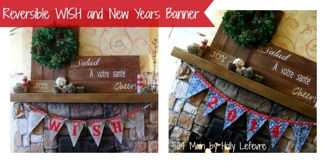 #fabulouslyfestive Reversible holiday banner by 504 main