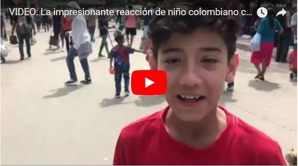 Niño colombiano quedó traumatizado al pasar la frontera hacia Venezuela