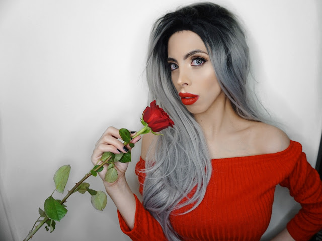 OFFICIAL SAVANA RAE WITH A ROSE WEARING RED FOR LOVE