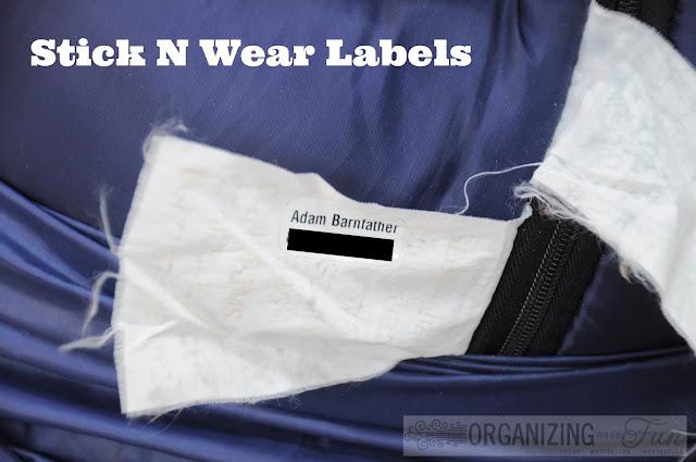 Stick N Wear Clothing Labels :: OrganizingMadeFun.com