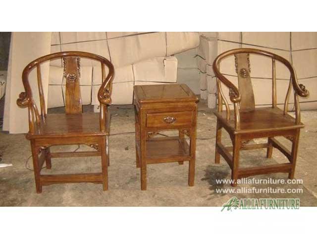 kursi teras rumah kayu jati hongkong