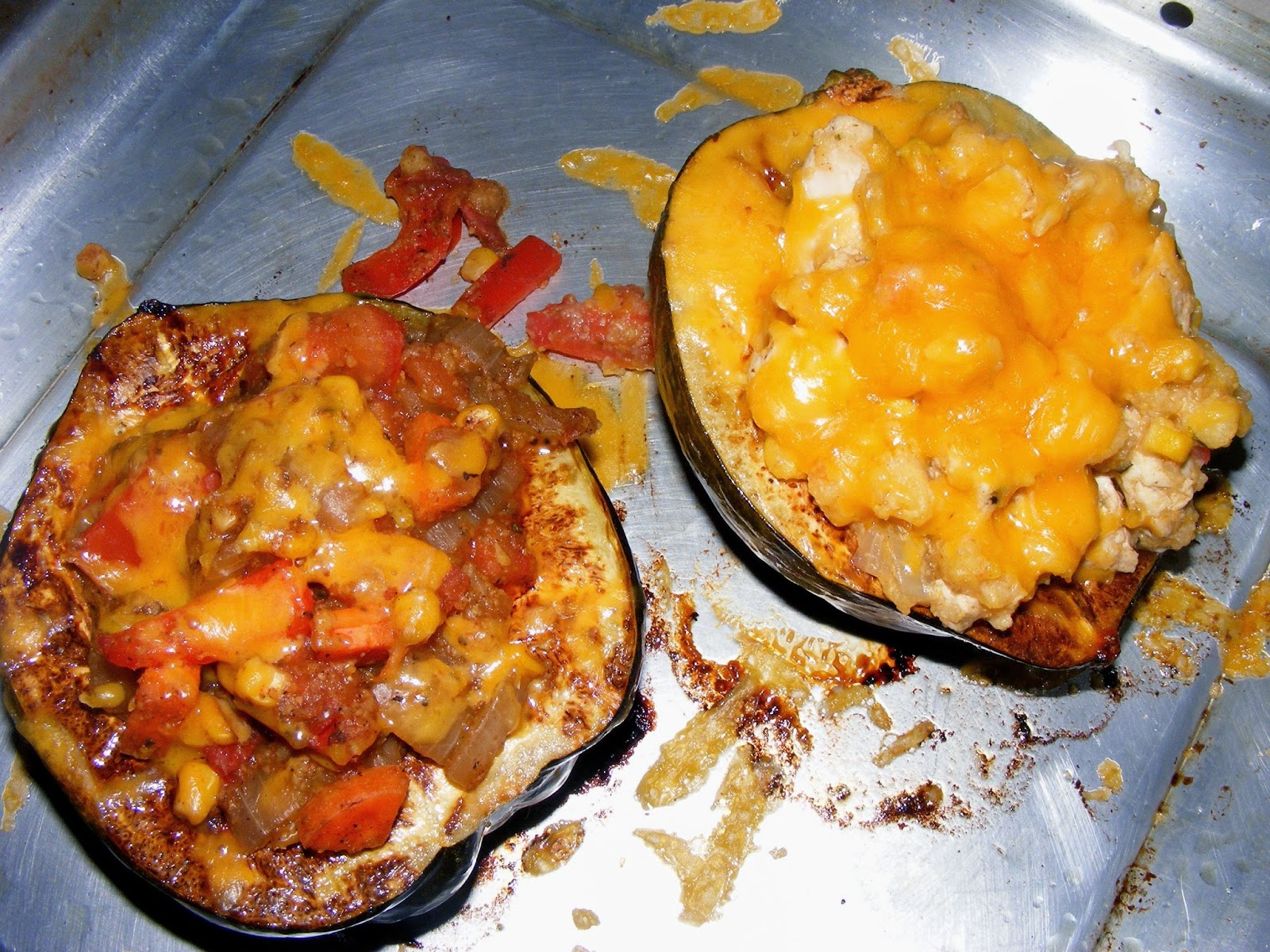 http://www.thesaladgirl.com/2008/10/11/polenta-stuffed-mexican-acorn-squash-blogger-secret-ingredient/