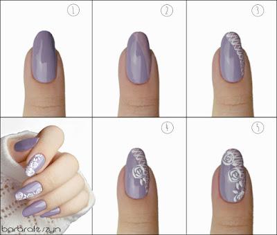 tutorial kwiatowe paznokcie