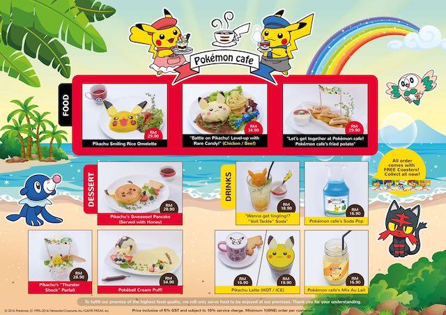 Pokemon Cafe Malaysia Food & Drinks Menu
