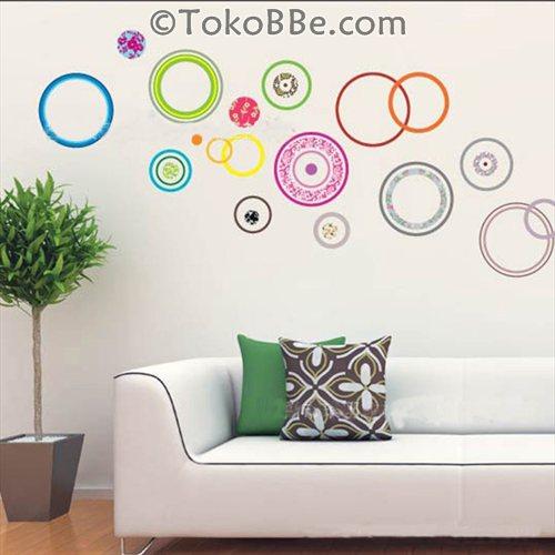 Stiker Dinding Lingkaran Ruang Tamu