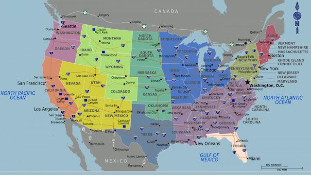 Gambar Peta Amerika 7