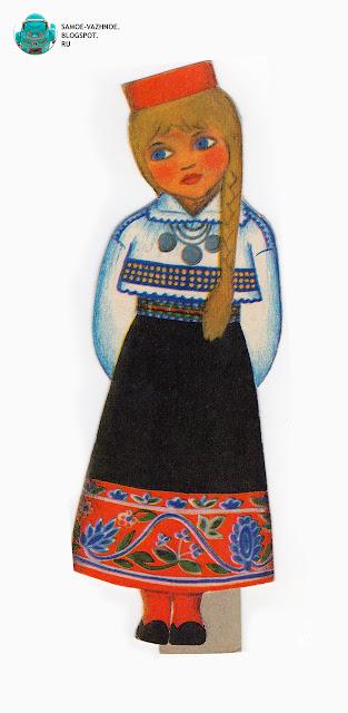 Советские бумажные куклы. Бумажные куклы в национальных костюмах Эстония Таллин СССР.