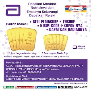 Promo Undian Indomaret Berhadiah Keping Emas