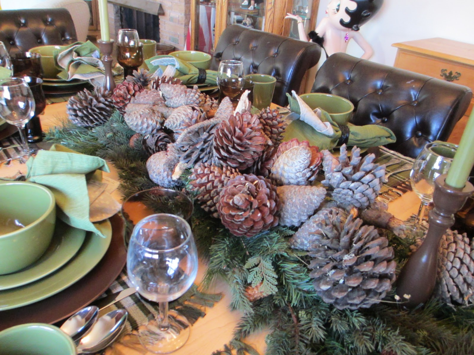 The Welcomed Guest Winter Pinecone Tablescape
