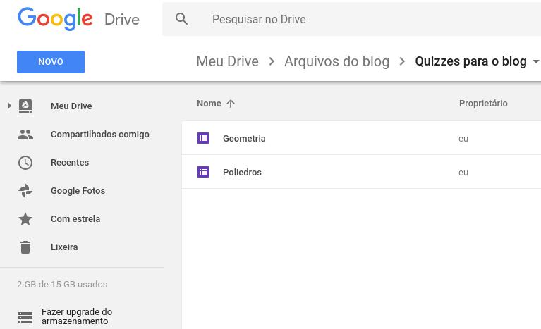 Passo 1: Abra o seu Google Drive.