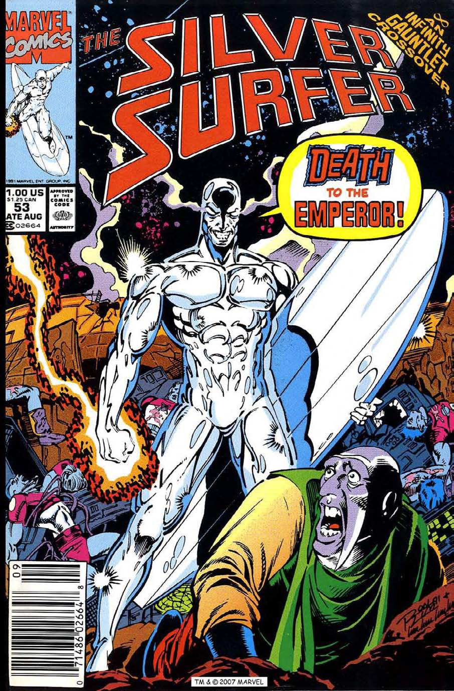 Read online Silver Surfer (1987) comic -  Issue #53 - 1