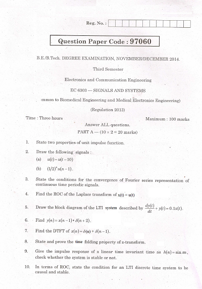Ec6303 signals and systems nov dec 2014 question paper university ec6303 signals and systems nov dec 2014 question paper malvernweather