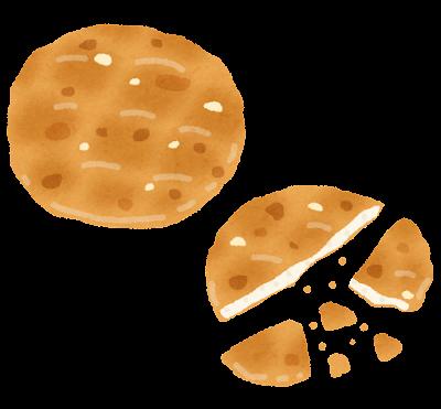 焼き煎餅のイラスト
