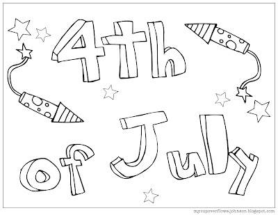 free coloring pages for the 4th of July Independence Day