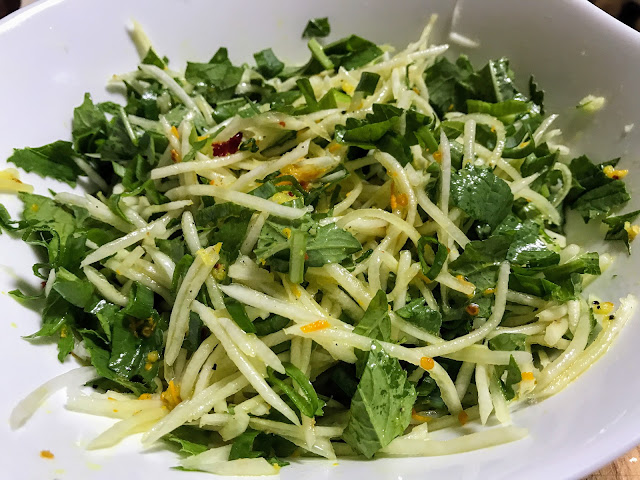 Daikon Radish Salad With Ginger And Turmeric