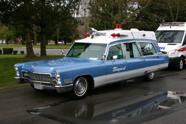 spotted 1968 cadillac ambulance the car hobby. Black Bedroom Furniture Sets. Home Design Ideas
