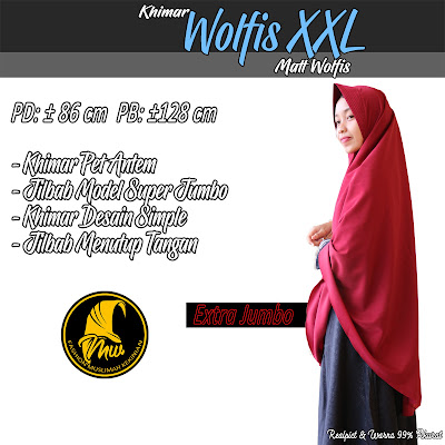 Khimar Wolfis Model Jumbo Desain Simple