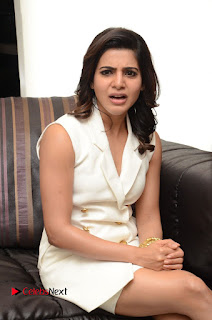 Samantha Ruth Prabhu Interview Pictures in Stylish Short Dress | ~ Bollywood and South Indian Cinema Actress Exclusive Picture Galleries