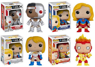 DC Universe Pop! Heroes Series 5 by Funko - Cyborg, Supergirl, Power Girl & Firestorm