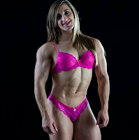 Only big biceps peak muscle women, Peak Power Muscular Physique, Flexing muscles