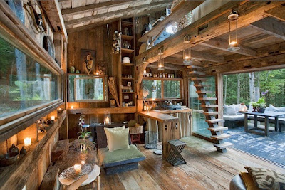 hermosa cabaña de descanso.