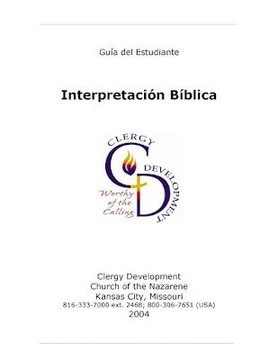 Iglesia Del Nazareno-Interpretación Bíblica-Guía Del Estudiante-