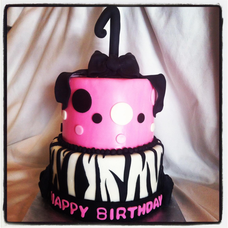 Simply Delicious Cakes: Pink Zebra 1st Birthday