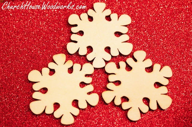 Wooden Christmas Tree Ornaments DIY, Snowflakes, Mittens, Stars, Stars