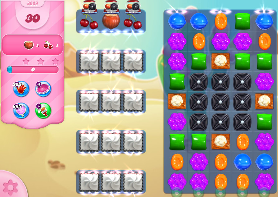 Candy Crush Saga level 3029